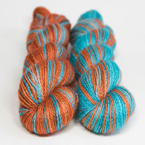 <!-- 004 --> 4ply BFL and Mohair - Kingfisher 18G