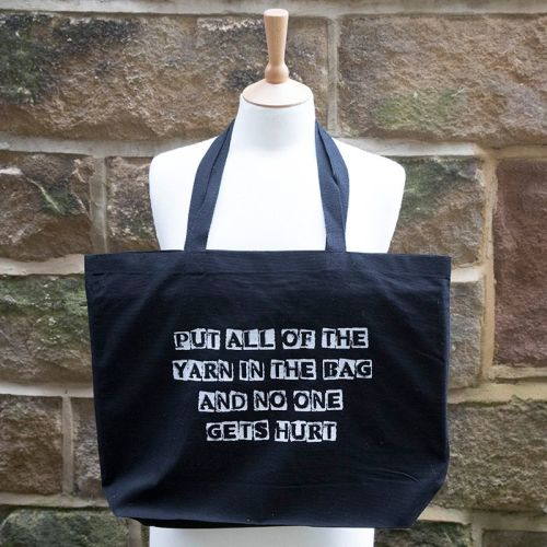 Canvas Tote Bag - PUT ALL OF THE YARN IN THE BAG