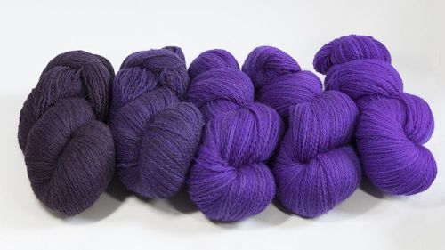 <!-- 001 -->4ply BFL and Masham Violet Ombre 18M