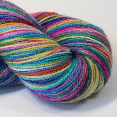 4ply Britsock - Blue Rainbow 18O