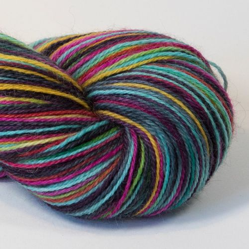 4ply Britsock - Black and Bright 18O