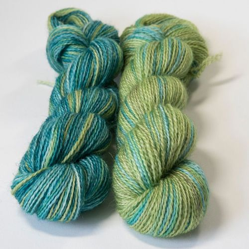 <!-- 004 --> 4ply BFL and Mohair - Green Stuff 18P