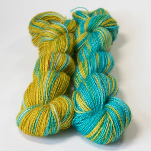 <!-- 004 --> 4ply BFL and Mohair - Neons 18P
