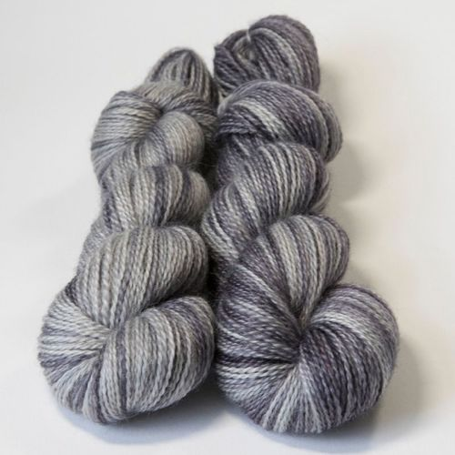 <!-- 004 --> 4ply BFL and Mohair - Silver Shadow 18P