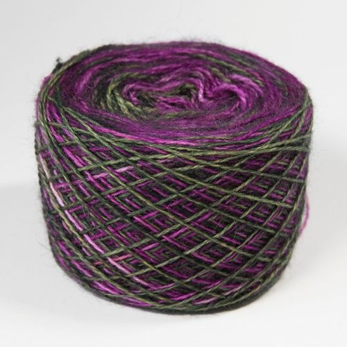 4ply BFL and Mohair - Bold Self Striping Orchid 18Q