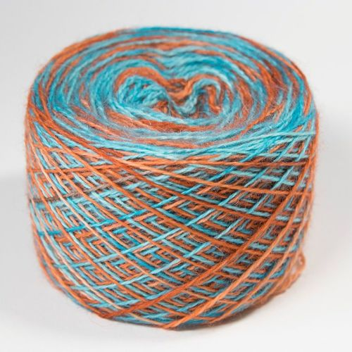 4ply BFL and Mohair - Bold Self Striping Verdigris 18Q