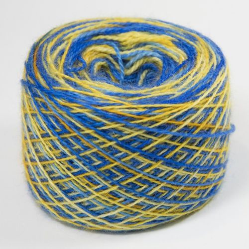 4ply BFL and Mohair - Bold Self Striping Mythical Biscuit 18R