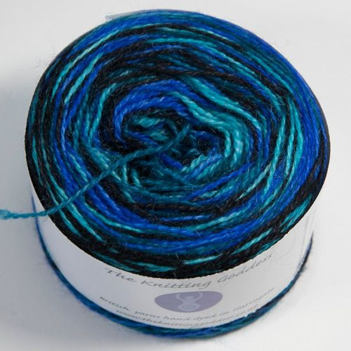 4ply BFL and Mohair - Self Striping - Dark Ocean 18AA