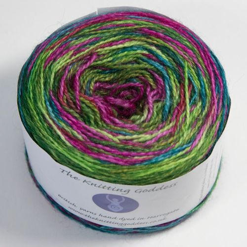 4ply BFL and Mohair - Self Striping - Flower Power 18AA