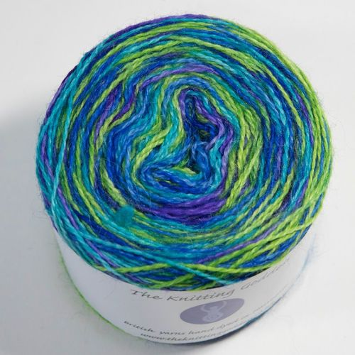4ply BFL and Mohair - Self Striping - Iris 18AA