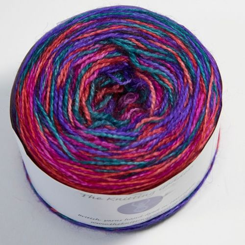 4ply BFL and Mohair - Self Striping - Jewel 18AA