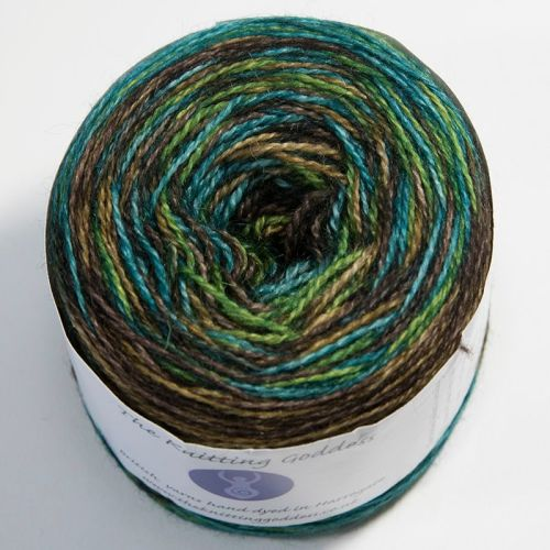4ply BFL and Mohair - Self Striping - Walnut Tree 18AA