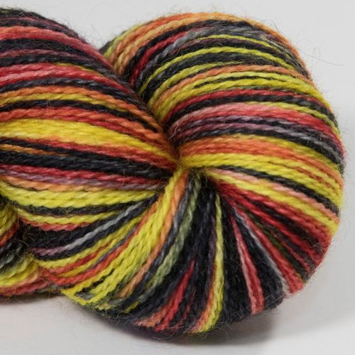 <!-- 001 --> 4ply BFL and Mohair - Toxic 18AA