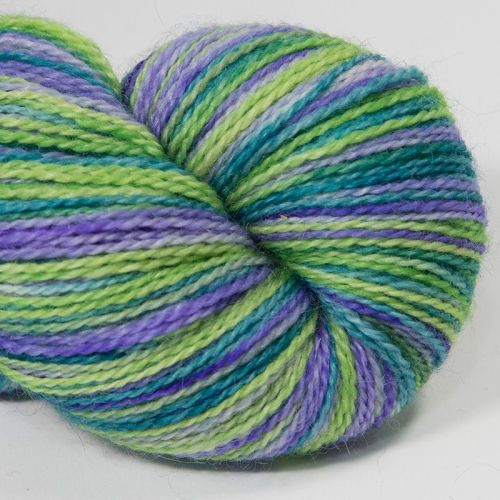 <!-- 001 --> 4ply BFL and Mohair - Violet Meadow 18AA