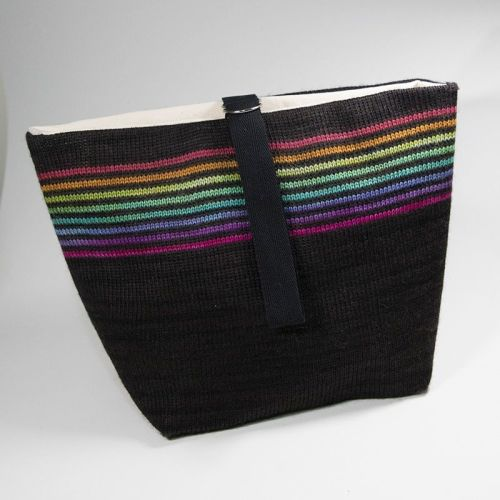 The Ultimate Knitted Project Bag - Narrow Stripe Rainbow (large)