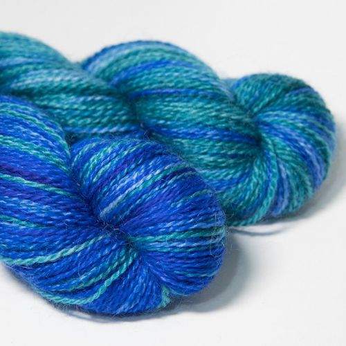 <!-- 004 --> 4ply BFL and Mohair - Earth and Sky 18D