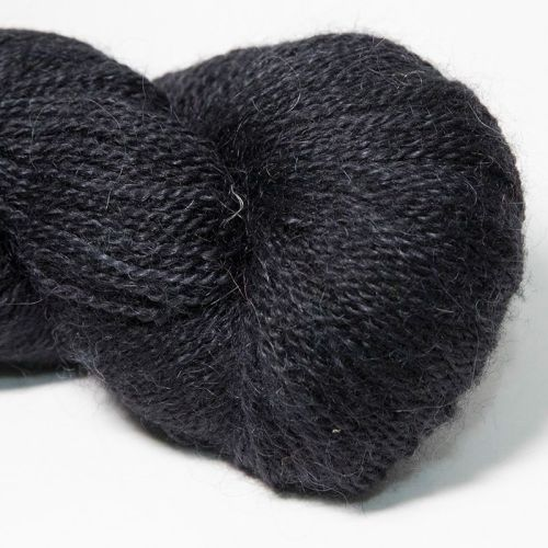 <!-- 002 -->  4ply BFL and Mohair - Black 18F