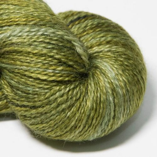 <!-- 002 -->  4ply BFL and Mohair - Lime 18F