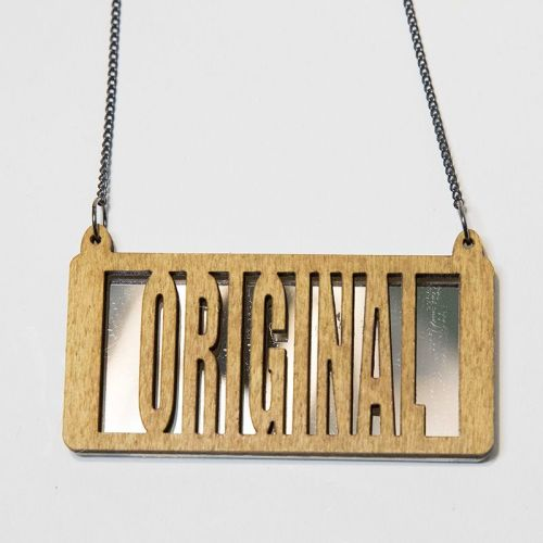 original wood and perspex necklace