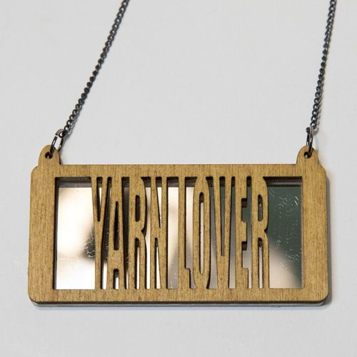 yarn lover wood and perspex necklace