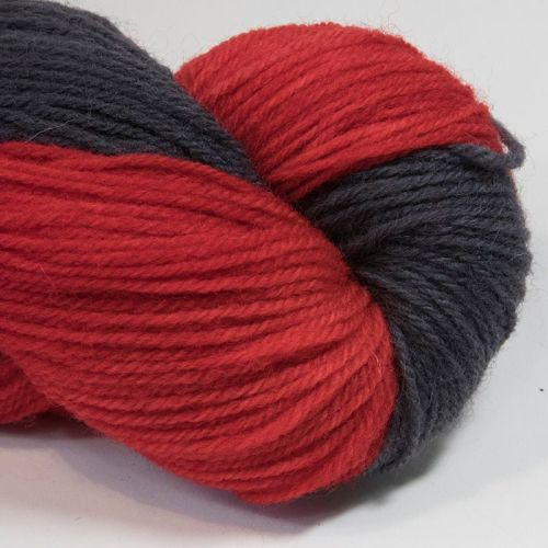 DK sock yarn - Coal and Red