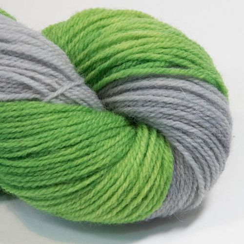 DK sock yarn - Lime and Silver