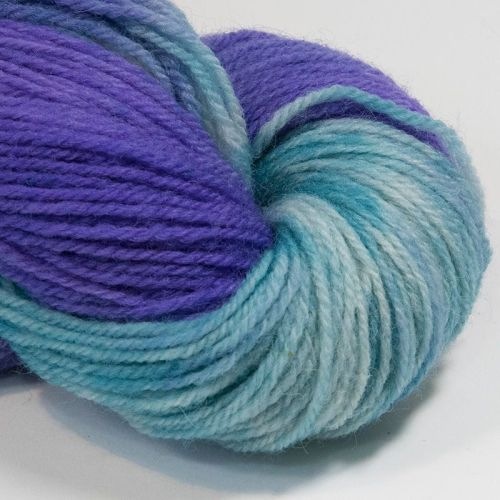 DK sock yarn - Green and Violet