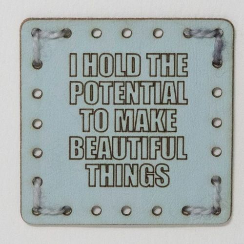 Sew On Patch - I hold the potential Blue