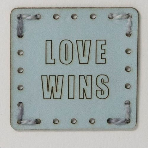 Sew On Patch - Love Wins Blue