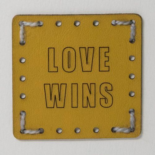 Sew On Patch - Love Wins Yellow