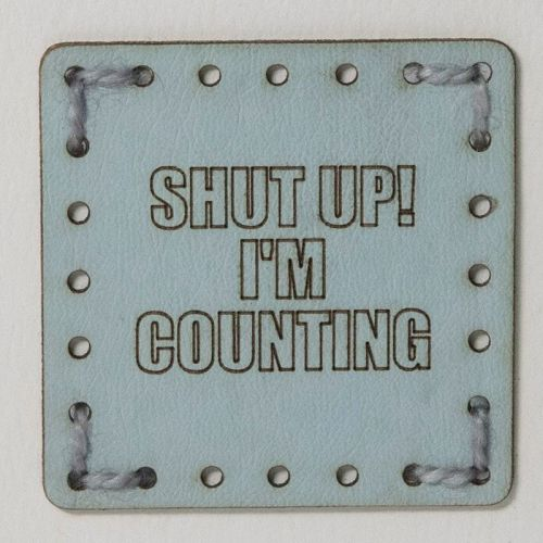 Sew On Patch - Shut Up Blue