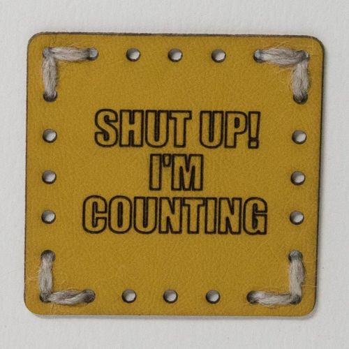 Sew On Patch - Shut Up Yellow