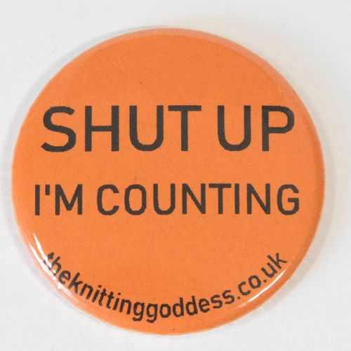 <!-- 002 -->Single Badge - SHUT UP I'M COUNTING