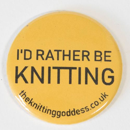 <!-- 003 -->Single Badge - I'D RATHER BE KNITTING
