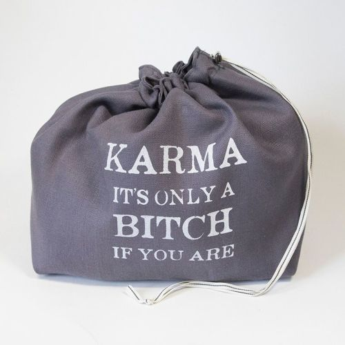 The Large Linen Project Bag - Karma