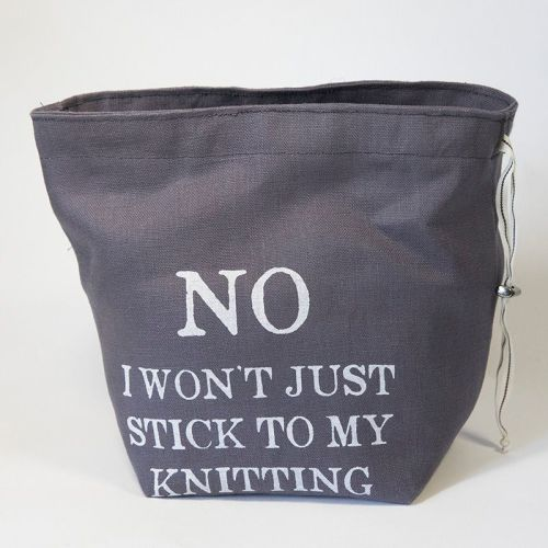 The Small Linen Project Bag - No I won't just stick to my knitting