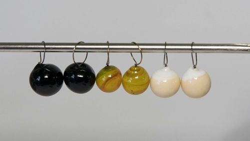 Grellow spheres glass stitch markers