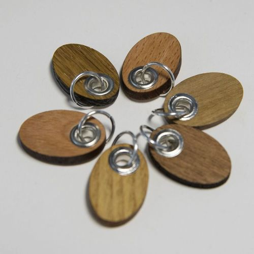 Wooden stitch marker set