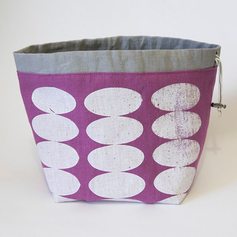 <!-- 001 -->The Small Linen Project Bag - Ovals