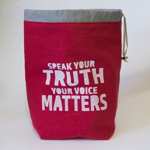 <!-- 001 -->The Medium Linen Project Bag - Speak Your Truth