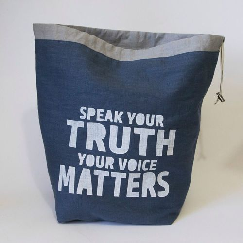 <!-- 001 -->The Large Linen Project Bag - Speak Your Truth