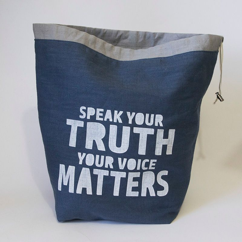 The Large Linen Project Bag - Speak Your Truth