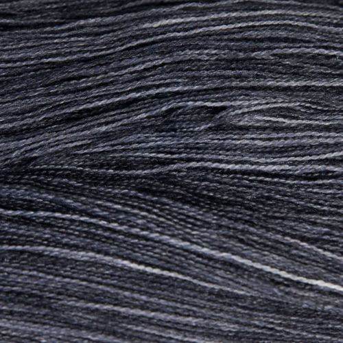 <!-- 003 -->Lace Weight BFL and Silk - Charcoal 19N
