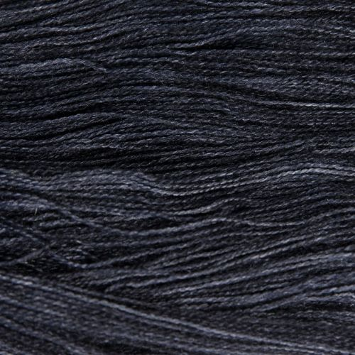 <!-- 004 -->Lace Weight BFL and Silk - Coal 19N