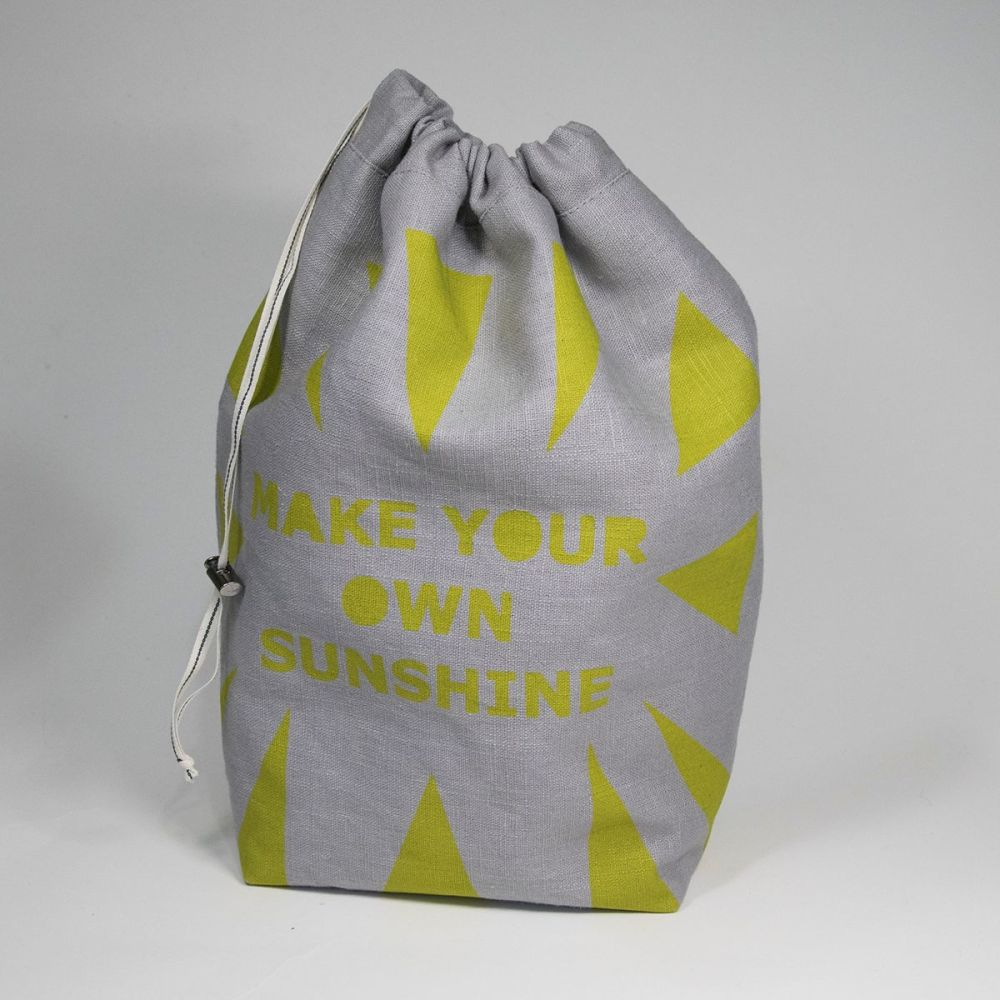 <!-- 001 -->The Medium Linen Project Bag - MAKE YOUR OWN SUNSHINE