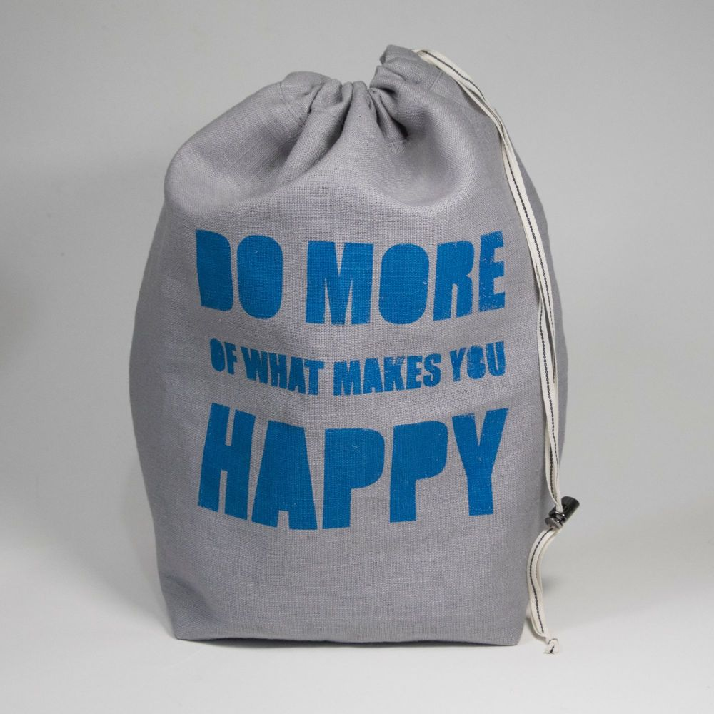 <!-- 001 -->The Medium Linen Project Bag - DO MORE OF WHAT MAKES YOU HAPPY