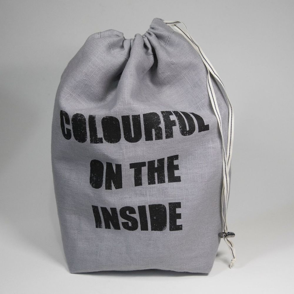 <!-- 001 -->The Medium Linen Project Bag - COLOURFUL ON THE INSIDE