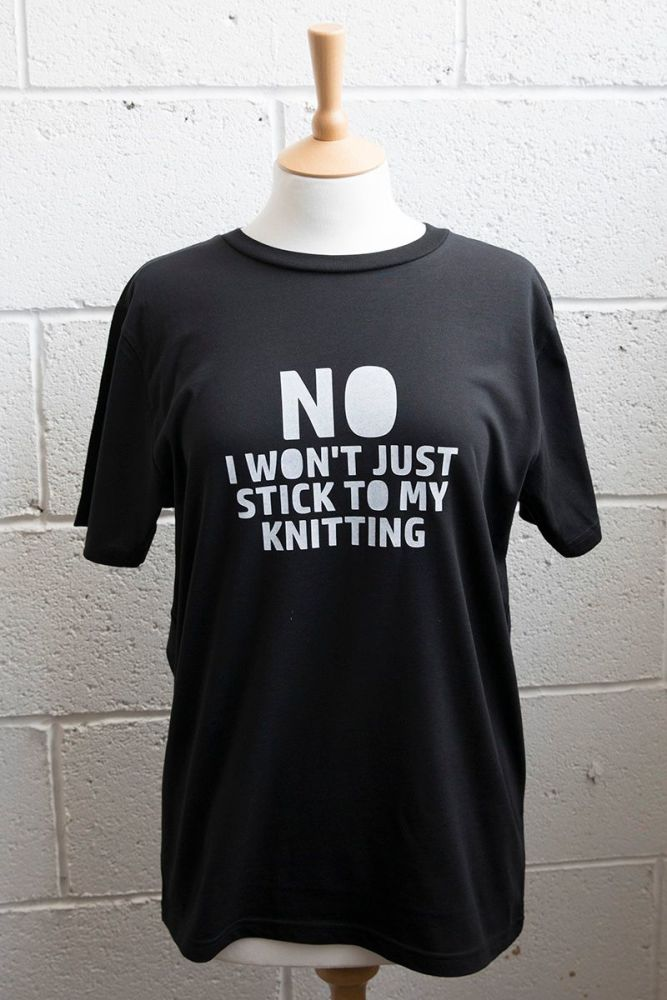 In stock - Stick to my knitting t-shirt