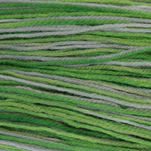 DK sock yarn - Lime and Silver 19A