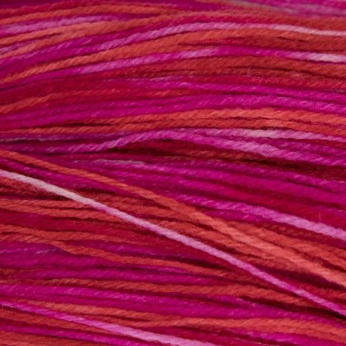 DK sock yarn - Pink and Red 19B